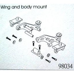 Wing and body mount set