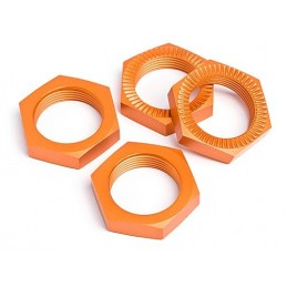 Hjulmuttrar 24 mm baja Orange