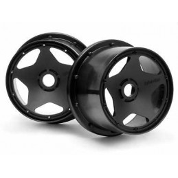 Super star wheel black Rear